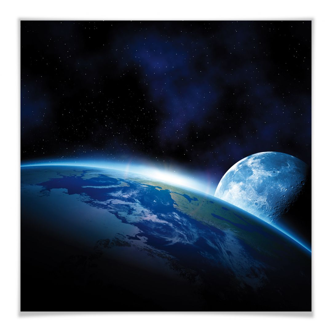 Poster 30x30 Poster Planète Earth Wall Art Fr