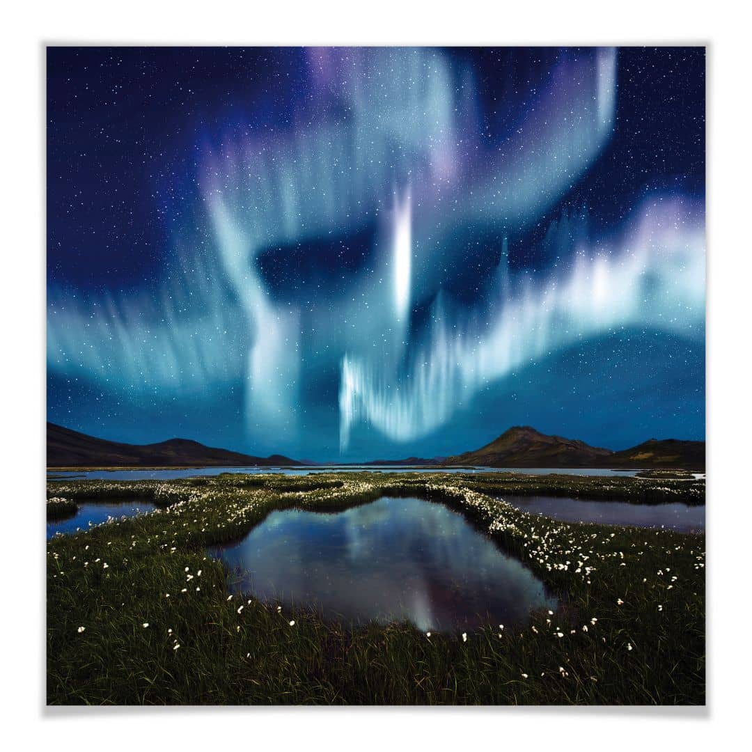 Poster 30x30 Poster Aurora Boreale Wall Art It