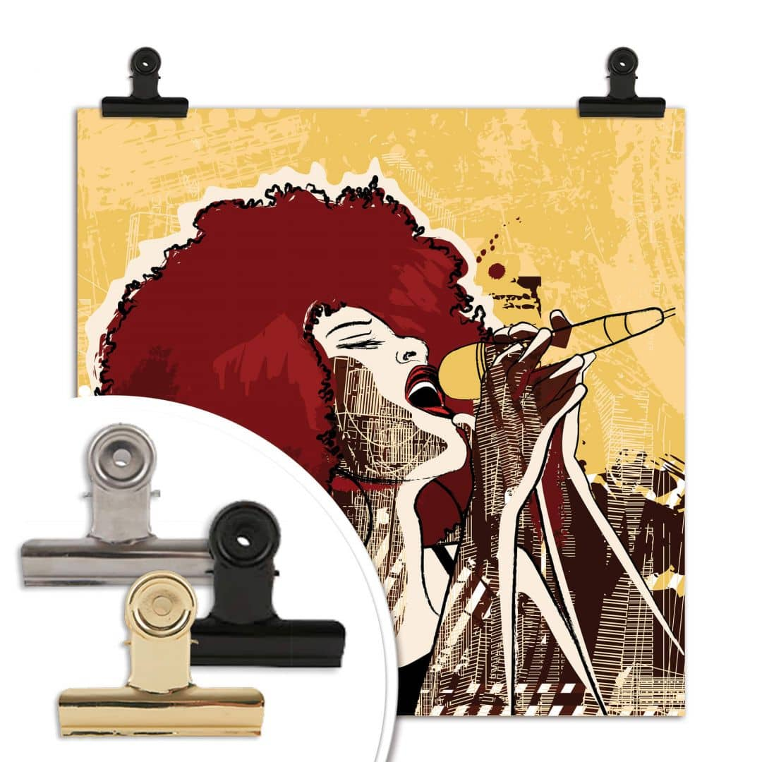 Poster 30x30 Poster Cantante Nera Wall Art It