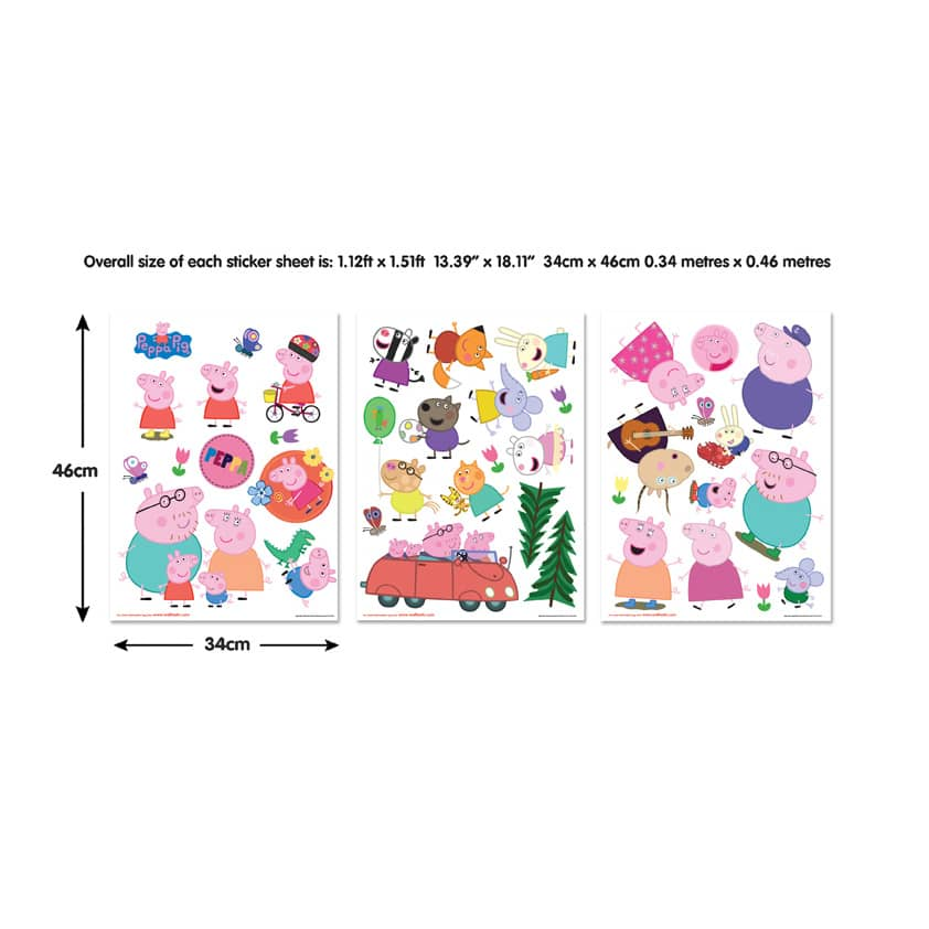 Bettwäsche Peppa Wutz Wandsticker Set Peppa Wutz | Wall-art.de