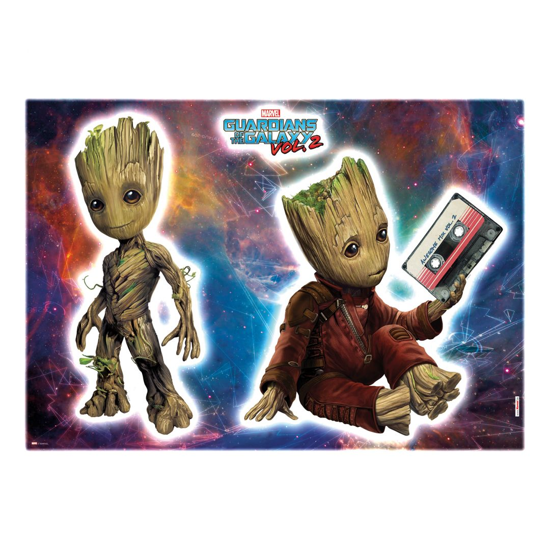 Bettwäsche Maritime Motive Komar Wandsticker-set Guardians Of The Galaxy Groot 14054h