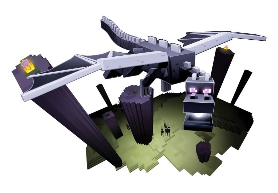 Dragon Bettwäsche Wandsticker Minecraft - Enderdragon | Wall-art.de