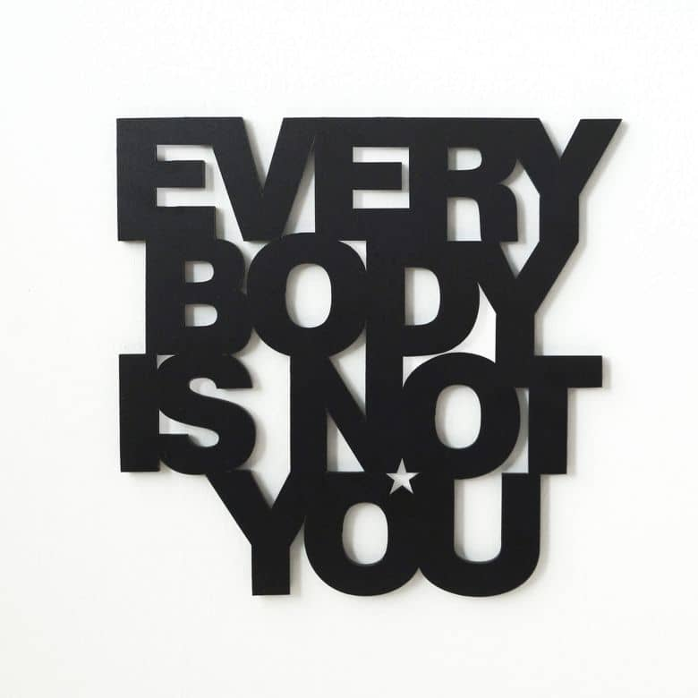 Dekobuchstaben 3d Dekobuchstaben 3d - Everybody Is Not You | Wall-art.de