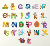 Alphabet Wall Sticker 70cm Learn letters kids room decal ...