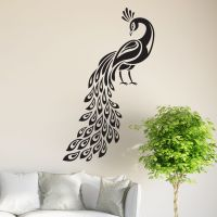 Peacock Wall Sticker Birds Decal Art Livingroom Vinyl ...