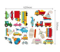 Cars Transport Learning Wall Stickers Kids Decals Cartoon ...