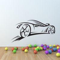 Sport Car race speed wall decal nursery vinyl sticker ...