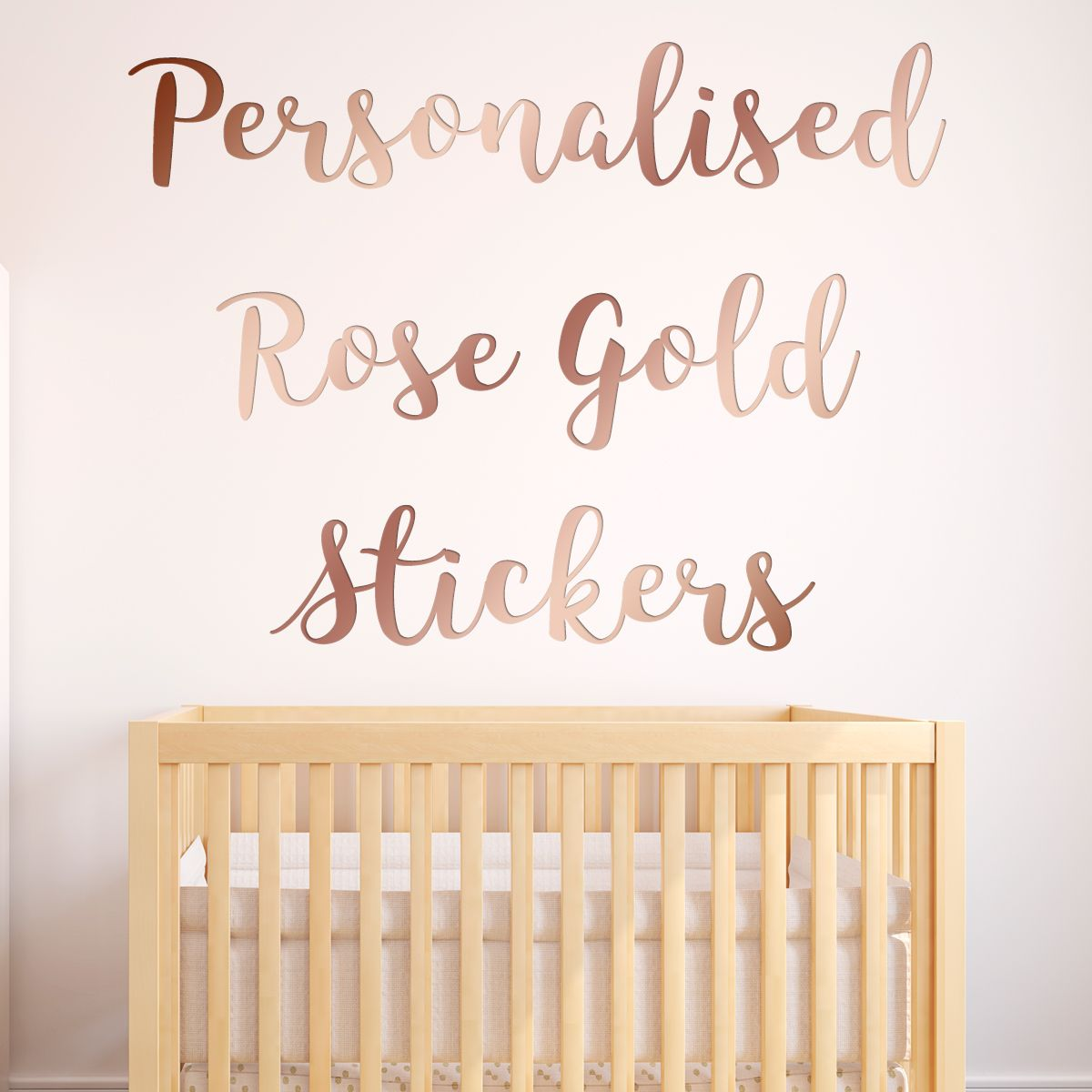 Personalised Sticker Personalised Rose Gold Wall Sticker