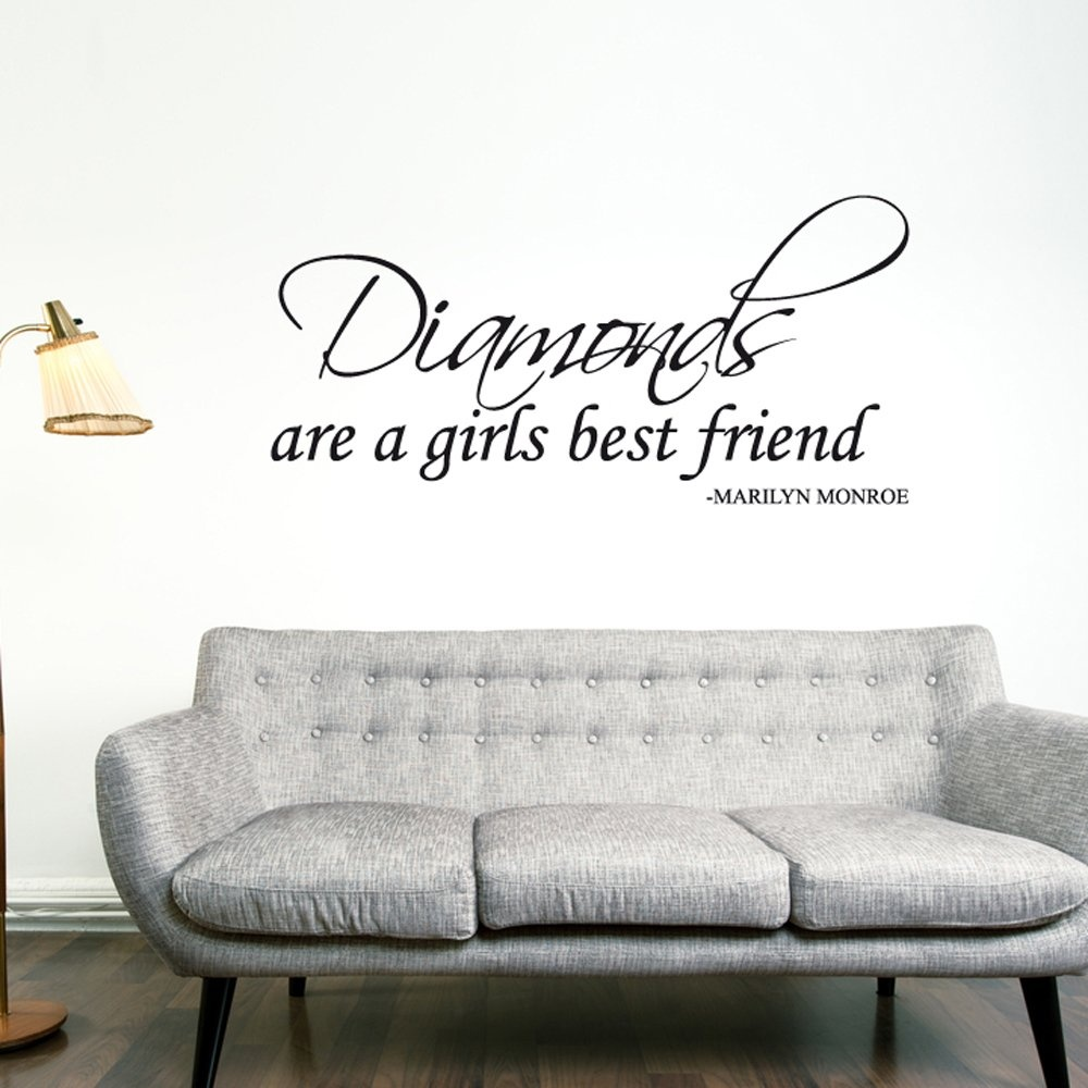 Quotes On Sofa Marilyn Monroe Diamonds Wall Sticker Quote