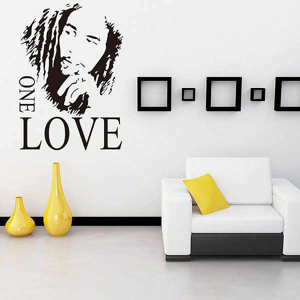 bob marley love wall quotes wall sticker art decal home dandelion blossom wall decals stickers appliques home decor