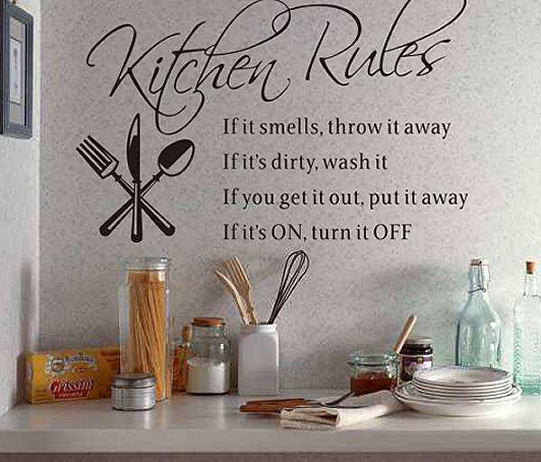rules wall quote sticker kitchen rules wall quote sticker vine tree large wall decals stickers appliques home decor