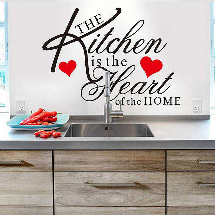 pics photos kitchen quote wall sticker personalised kitchen wall sticker decals