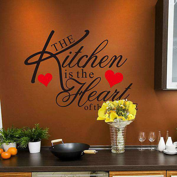 kitchen heart removable wall stickers quotes decal art mural quotes food nice kitchen wall sticker quote