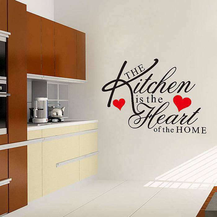 kitchen heart removable wall stickers quotes decal art mural personalised kitchen wall sticker decals