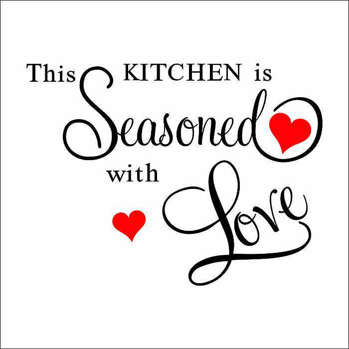 kitchen seasoned love wall quote sticker decal art quotes food nice kitchen wall sticker quote