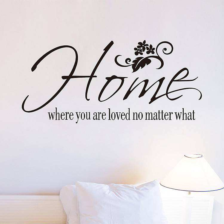 home loved matter quotes wall stickers wall home sweet home wall sticker decals