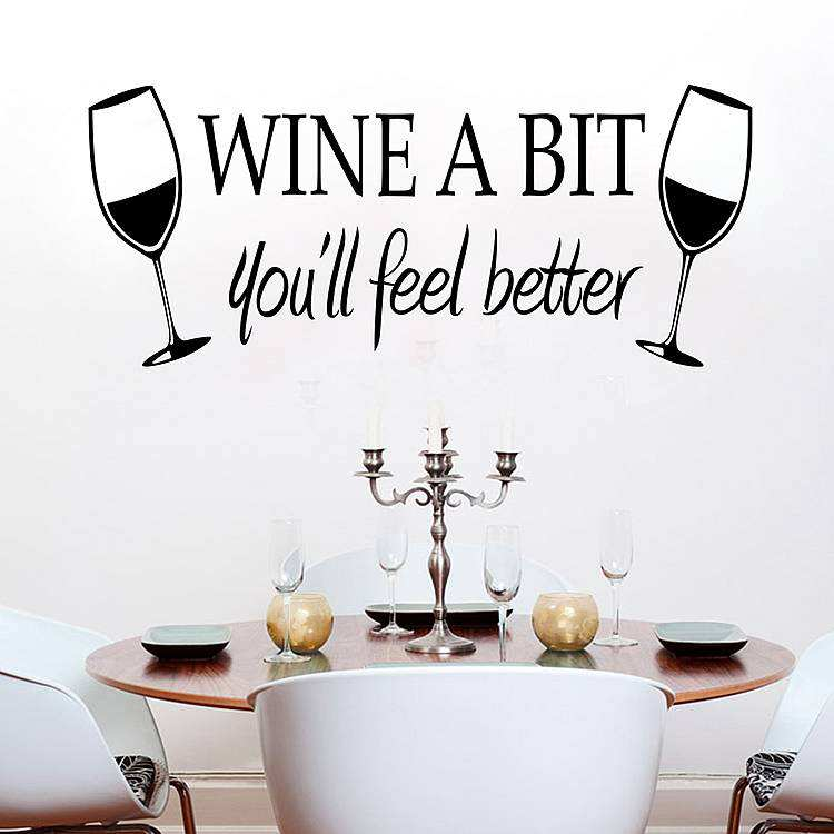 wine bit quotes wall decals stickers journey destination quote decal wall stickers transfers ebay
