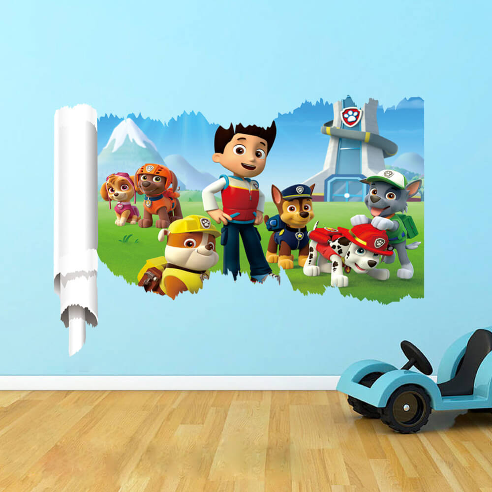 paw patrol wall decals wall stickers boys room girls room decals wall grasscloth wallpaper