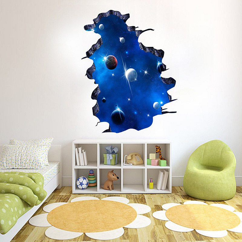diy sticker galactic space home decor vinyl wall stickers cool boys room wall stickers kidsomania