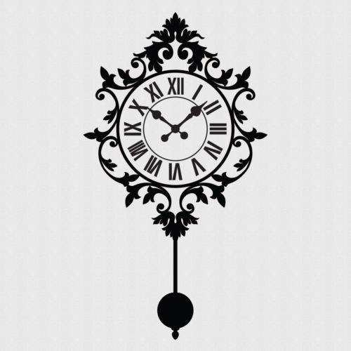 home decor wall clock stickers vintage wall clock sticker art decorative stickers clock decorative stickers