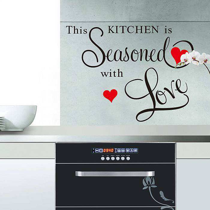 kitchen seasoned love wall quote sticker wall decals quotes food nice kitchen wall sticker quote