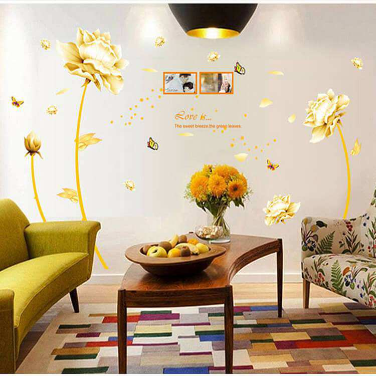 tulip flower wall art decal sticker decor bedroom lounge floral leaves flowers wall art stickers wall decal transfers ebay