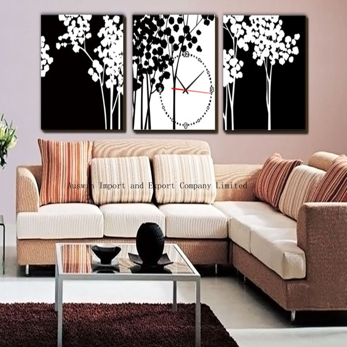 Pictures Of Living Room Decor Living Room Decor With Wall Clock Hz Wall Decoration