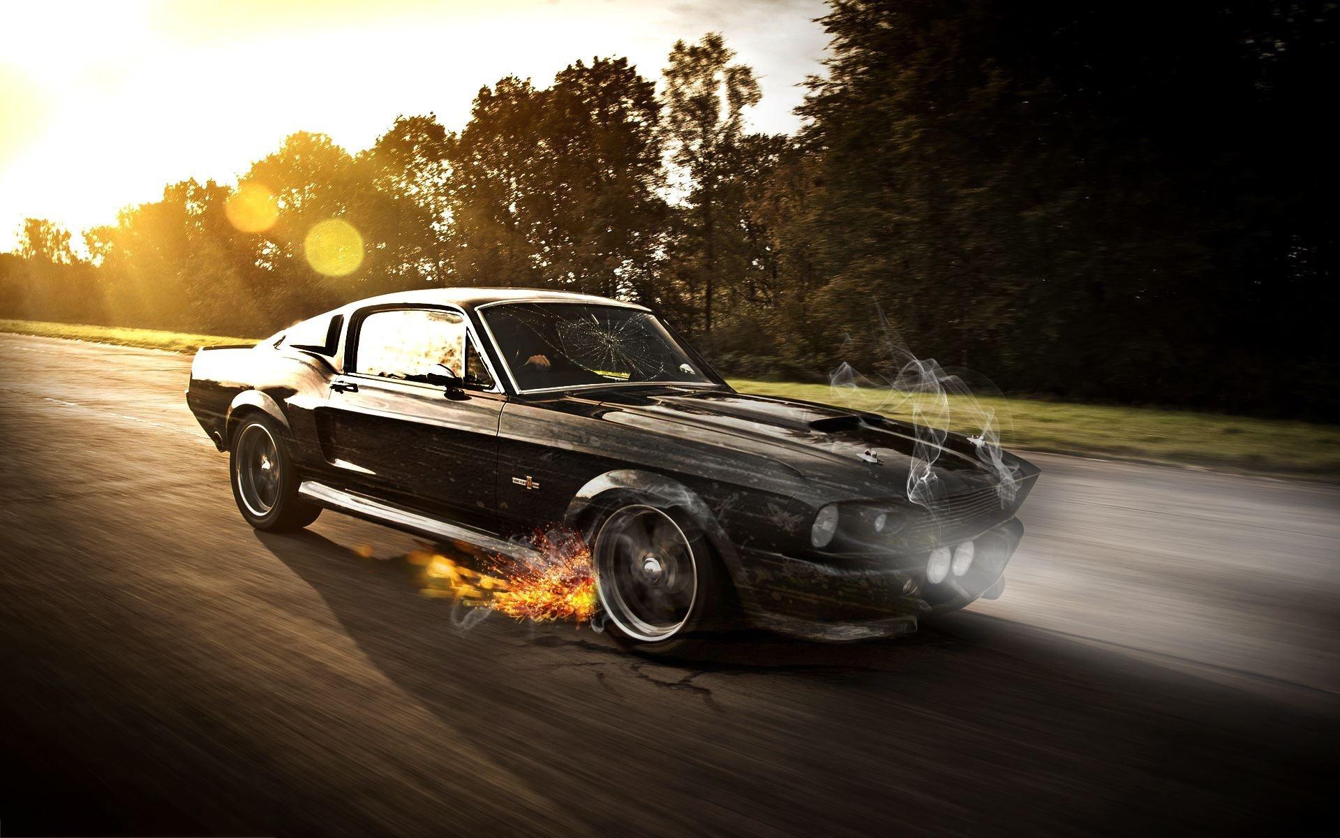American Muscle Car Desktop Wallpapers Mustang Shelby Wallpaper Photoshop 1253 Wallpaper