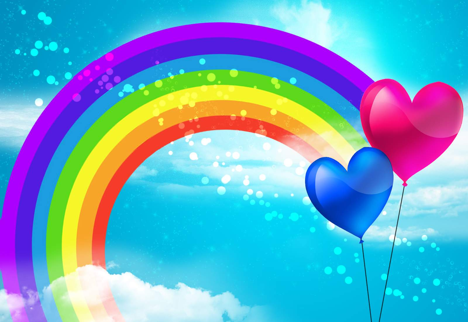 Cute Wallpaper Quotes Download Rainbow Wallpaper Baloons 7176 Wallpaper Walldiskpaper