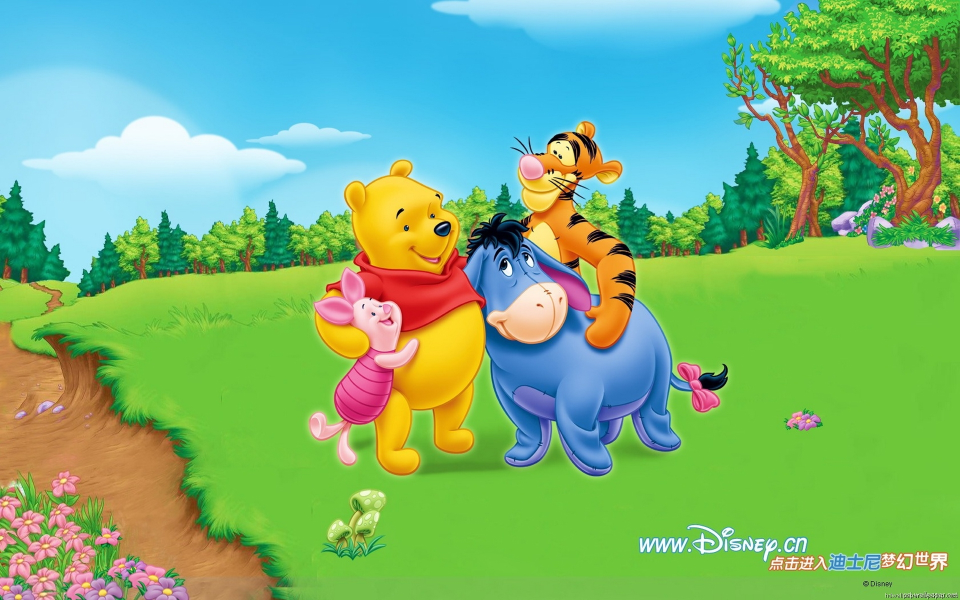 Cute Pooh Bear Wallpapers Walt Disney Winnie The Pooh Wallpaper 9475 Wallpaper