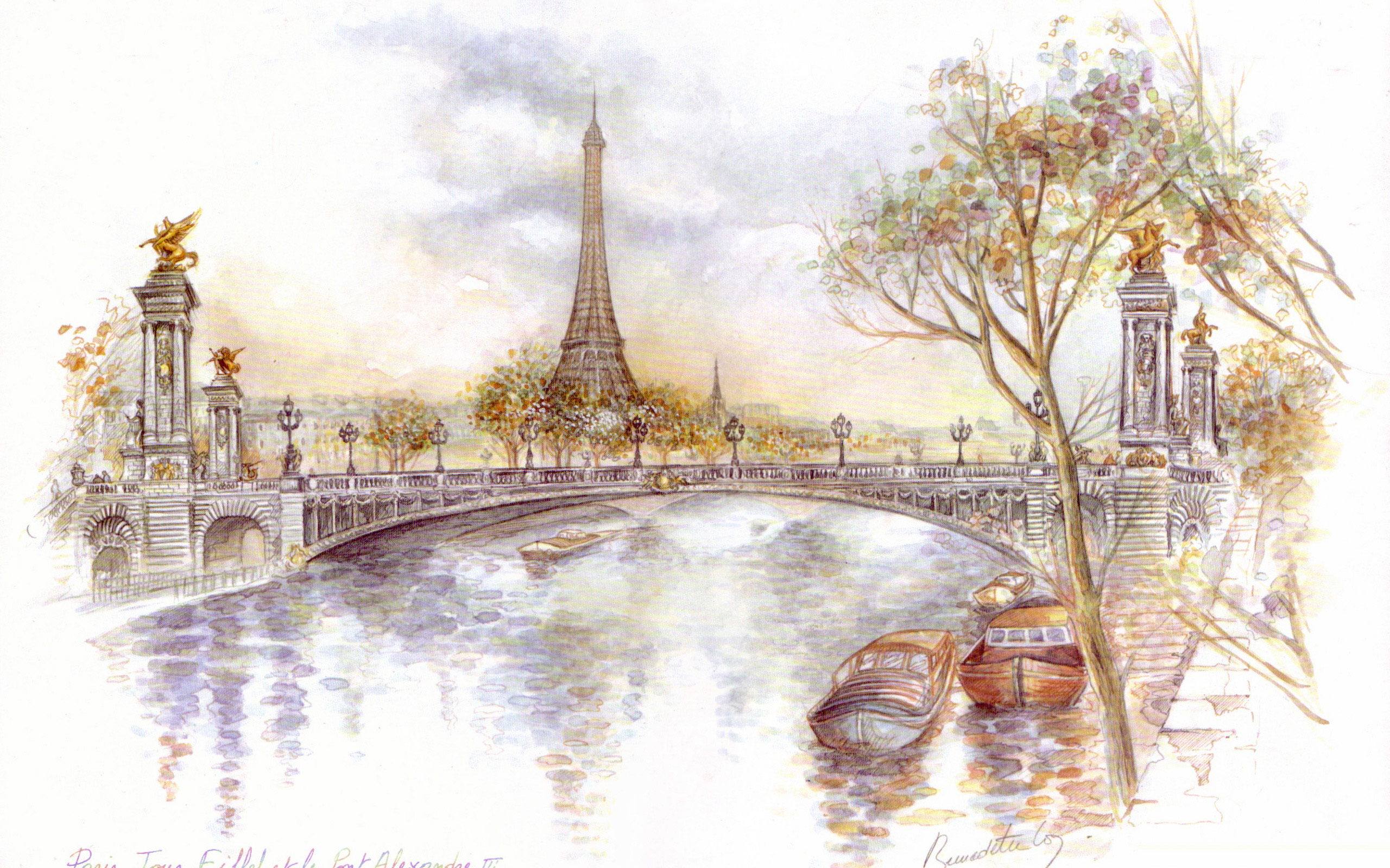 Yellow Wallpapers With Quotes Paris Wallpaper Drawing Art Eiffel 12890 Wallpaper