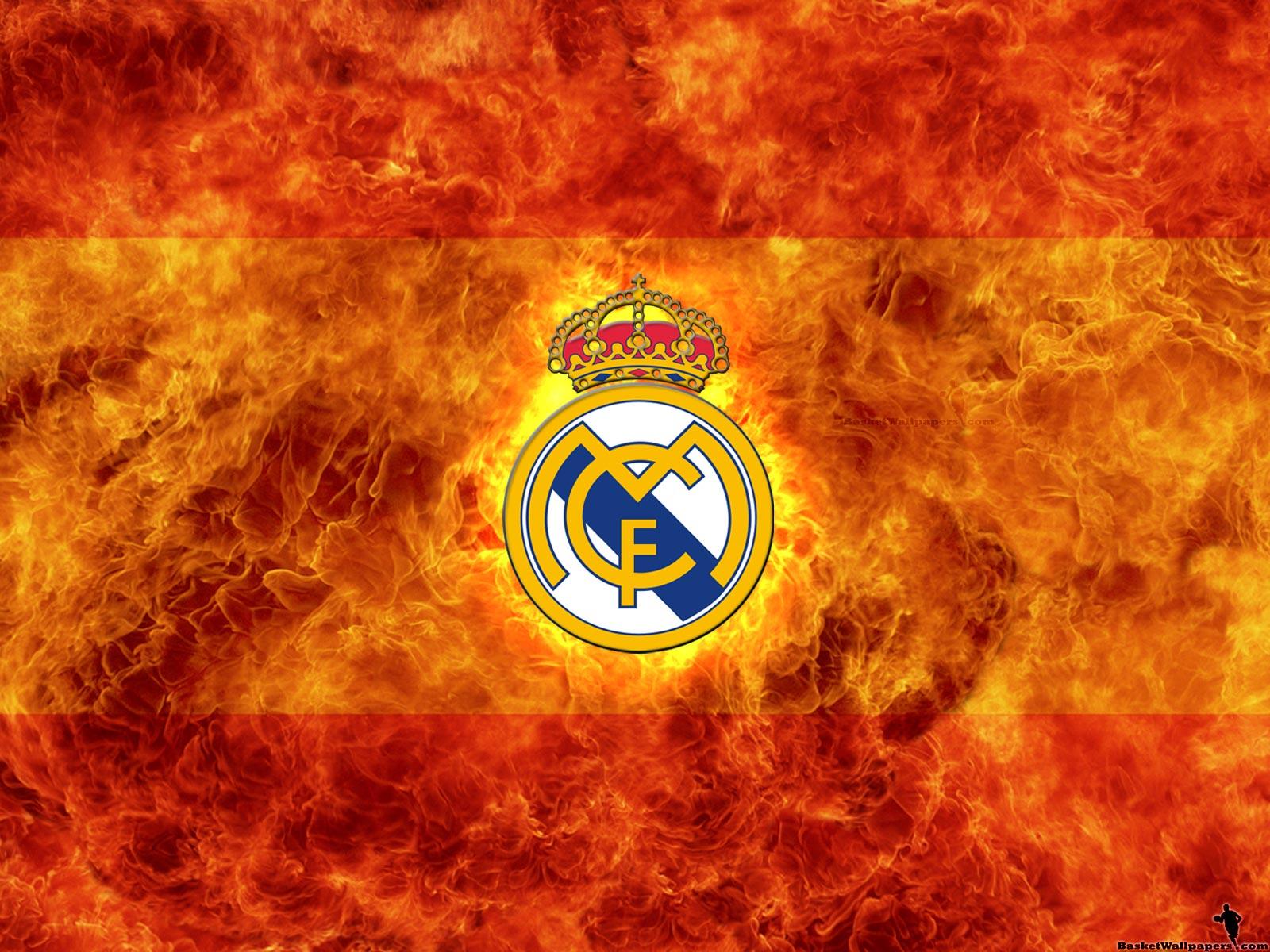 Real Madrid D Real Madrid Wallpaper Fire Logo 12584 Wallpaper