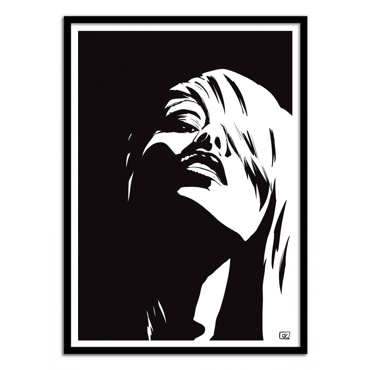 50x70 Poster Illustration Of Sexy Girl By Cristiano Art Print And Poster