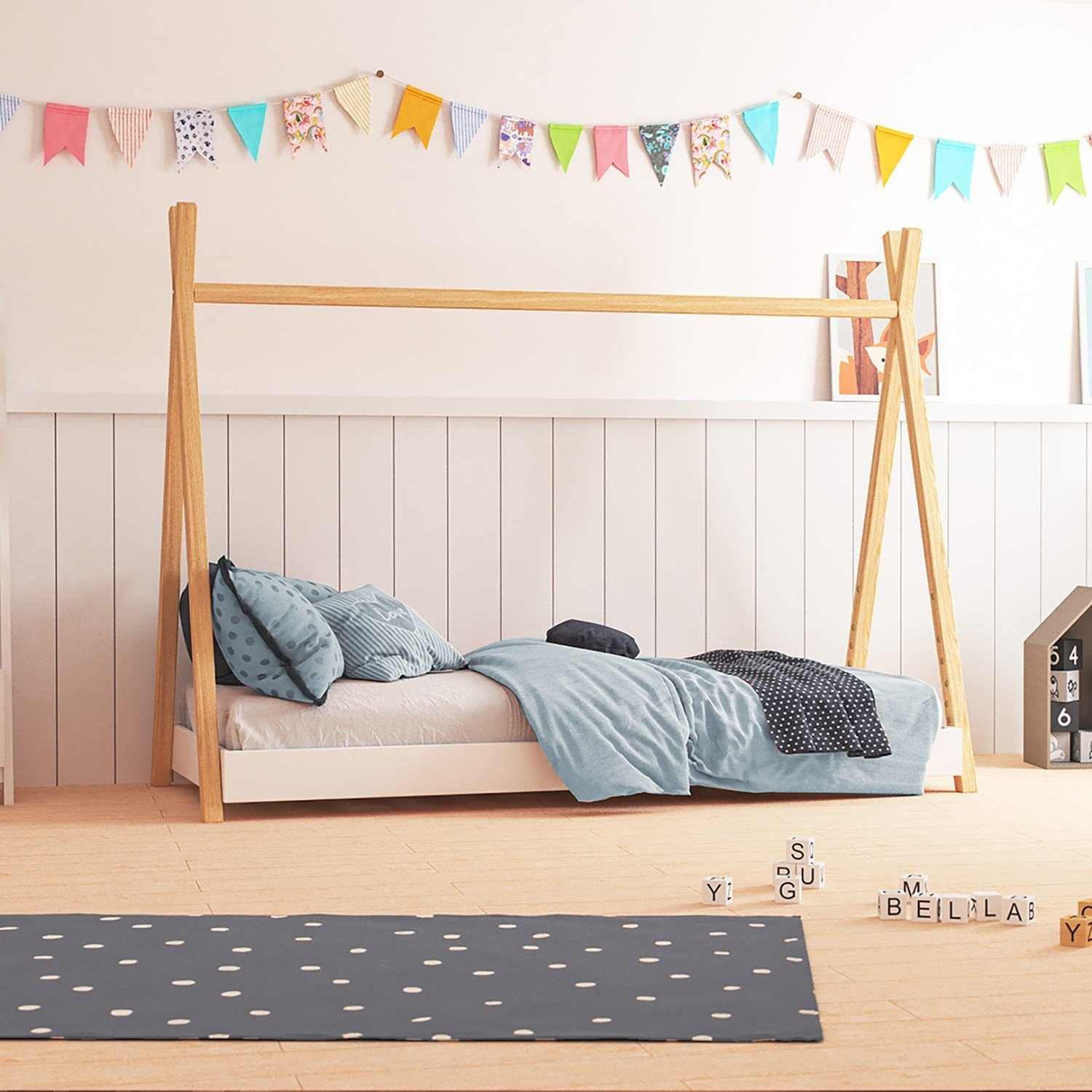 Nature Kid Tipi Bett Aus Massiver Kiefer Wallenfels Onlineshop