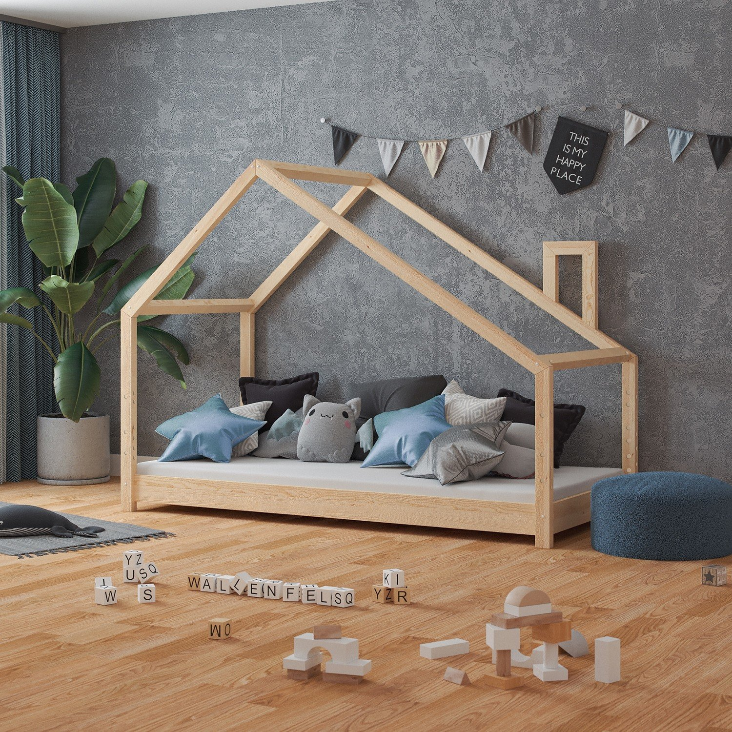 Gästebett Ideen Nature Kid Hausbett Milo In Kiefer Natur - Wallenfels Onlineshop
