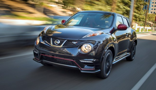 As king of the JUKE line, the new NISMO RS ups JUKEís bragging rights to a best-in-class* 215 horsepower (at 6,000 rpm) and 210 lb-ft of torque (at 3,600 - 4,800 rpm) for the 6-speed manual transmission-equipped front-wheel drive model. The JUKE NISMO RS All-Wheel Drive with Xtronic CVTÆ is rated at 211 horsepower (at 6,000 rpm) and 184 lb-ft of torque (at 2,400 - 6,000 rpm).