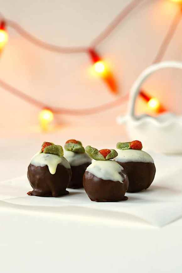 Christmas Pudding Bites ❄ {Raw, Gluten-free, Vegan}
