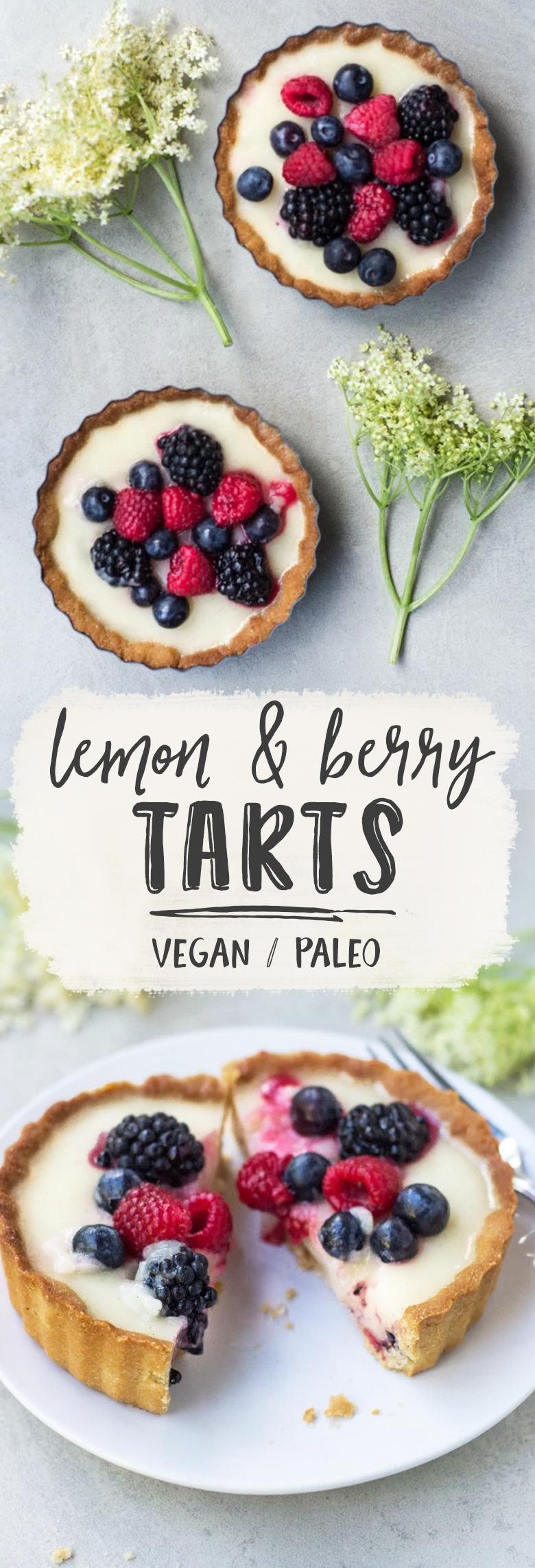 Lemon & Berry Tarts (Vegan + GF)