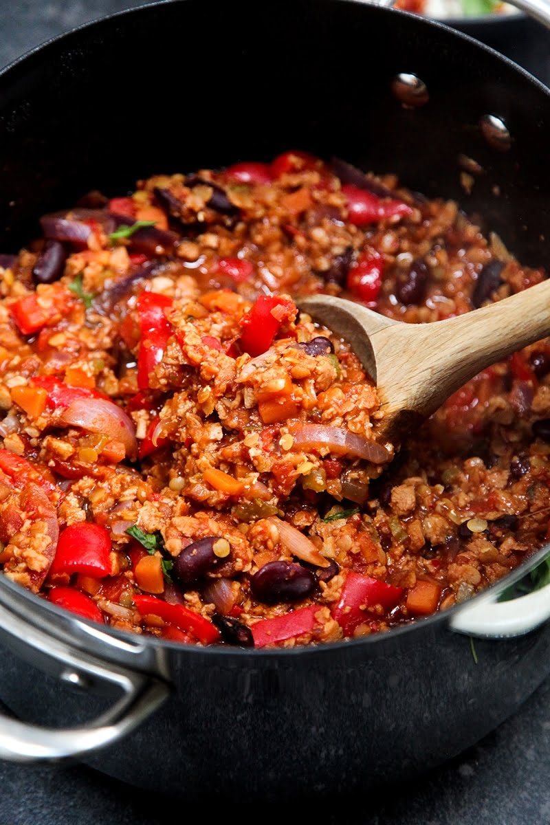 Veganes Chili Sin Carne Easy Vegan Chilli Sin Carne - Wallflower Kitchen