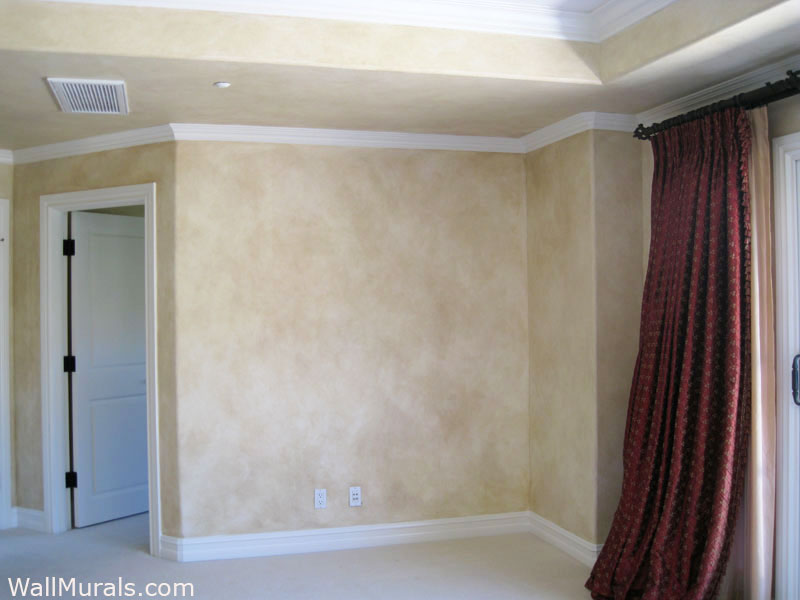 Dining Room Ceiling Faux Wall Finishes - Examples Of Hand-painted Wall Treatments
