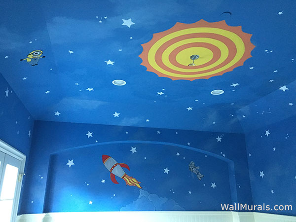 Walls Faux Finish Space Wall Murals Examples - Custom Outer Space Wall