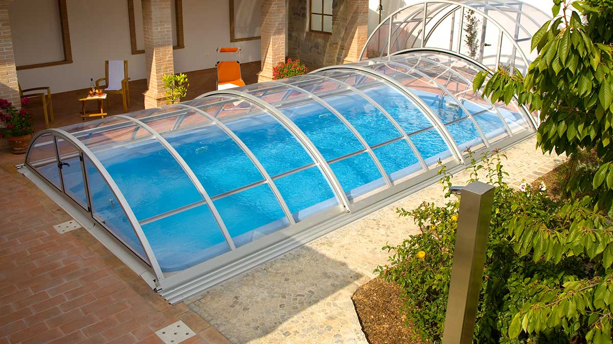 Pool Abdeckung Plexiglas Poolüberdachung Basic Lokomotive Von Wallnerpool