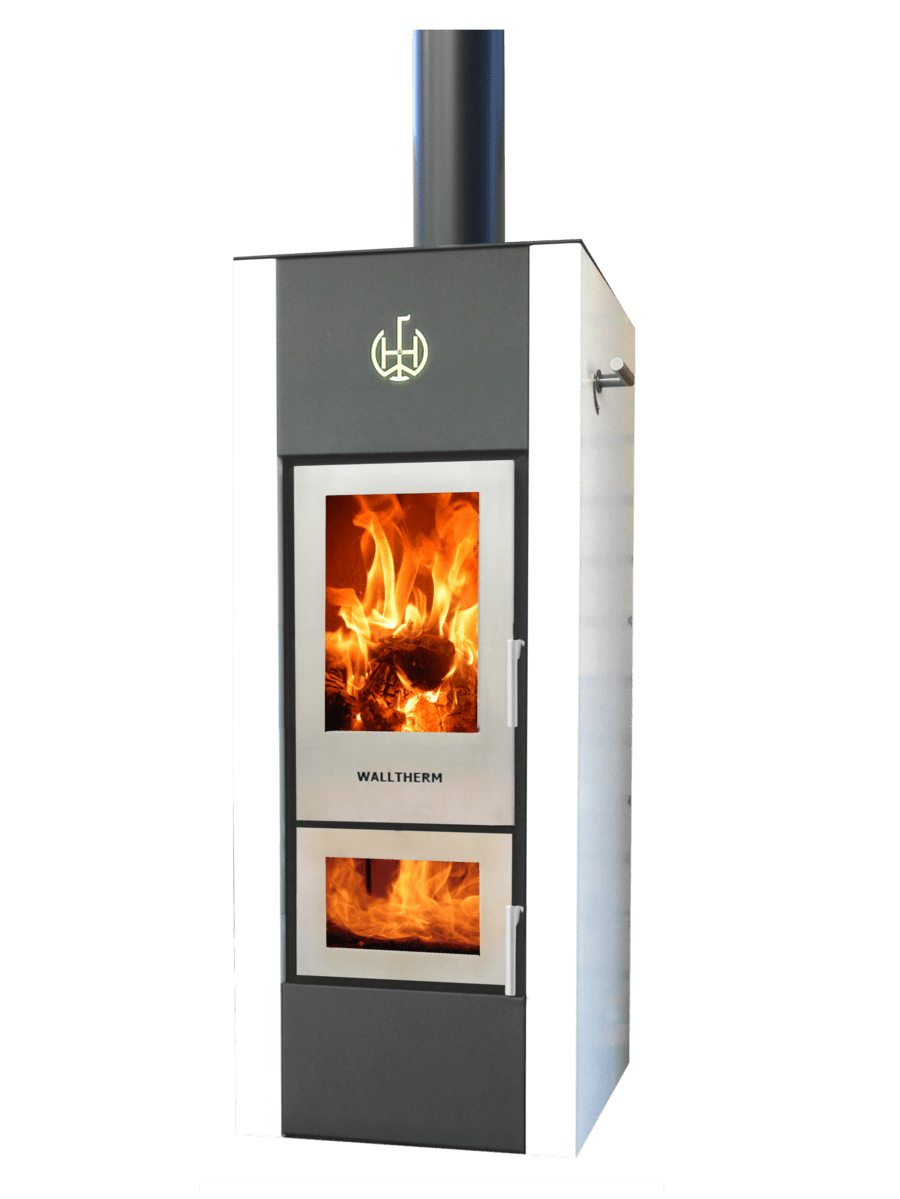 Color Fire Kaminofen Walltherm Zebrú The Standard Model Available In Black Or Grey