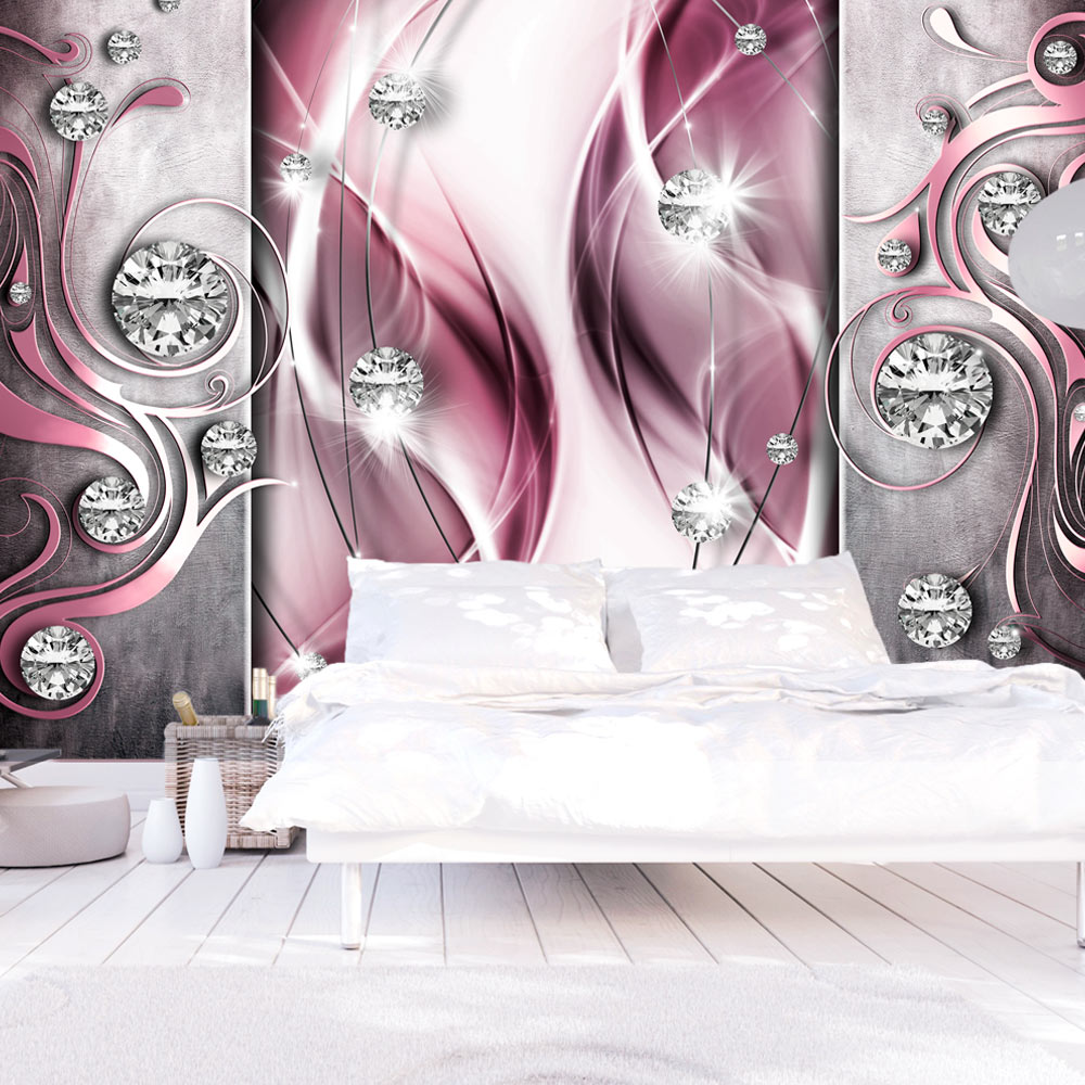 Fototapete Pink And Diamonds Wallpaper Dreams De