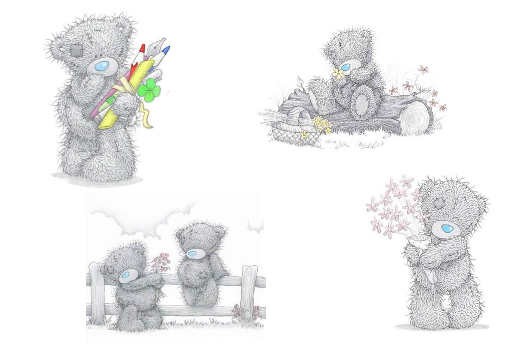 Cute Baby With Teddy Bear Wallpapers Tatty Teddy Backgrounds Group 44