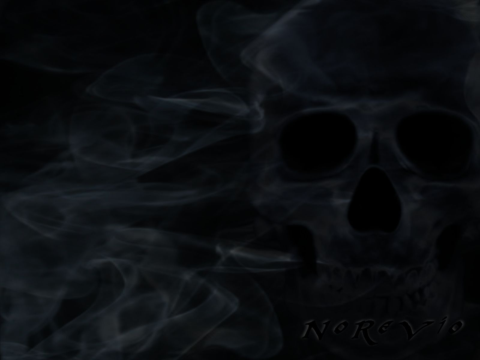 Horror Hd Wallpapers 1366x768 Smoking Skull Wallpapers Group 47