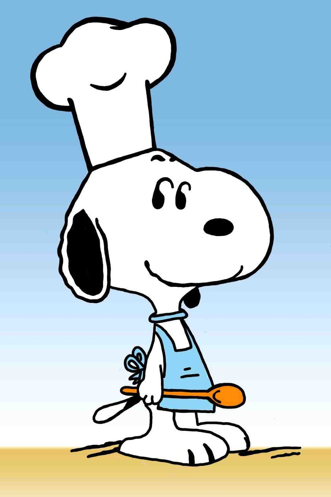 Snoopy The Chef Hd Background Image For Iphone Cartoons Backgrounds