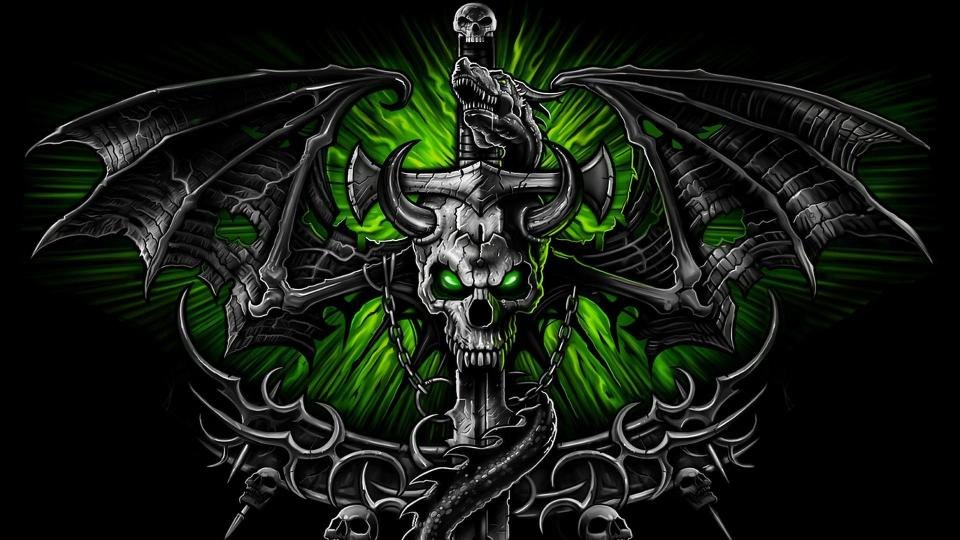 Free Hd Skull Wallpapers Group 86