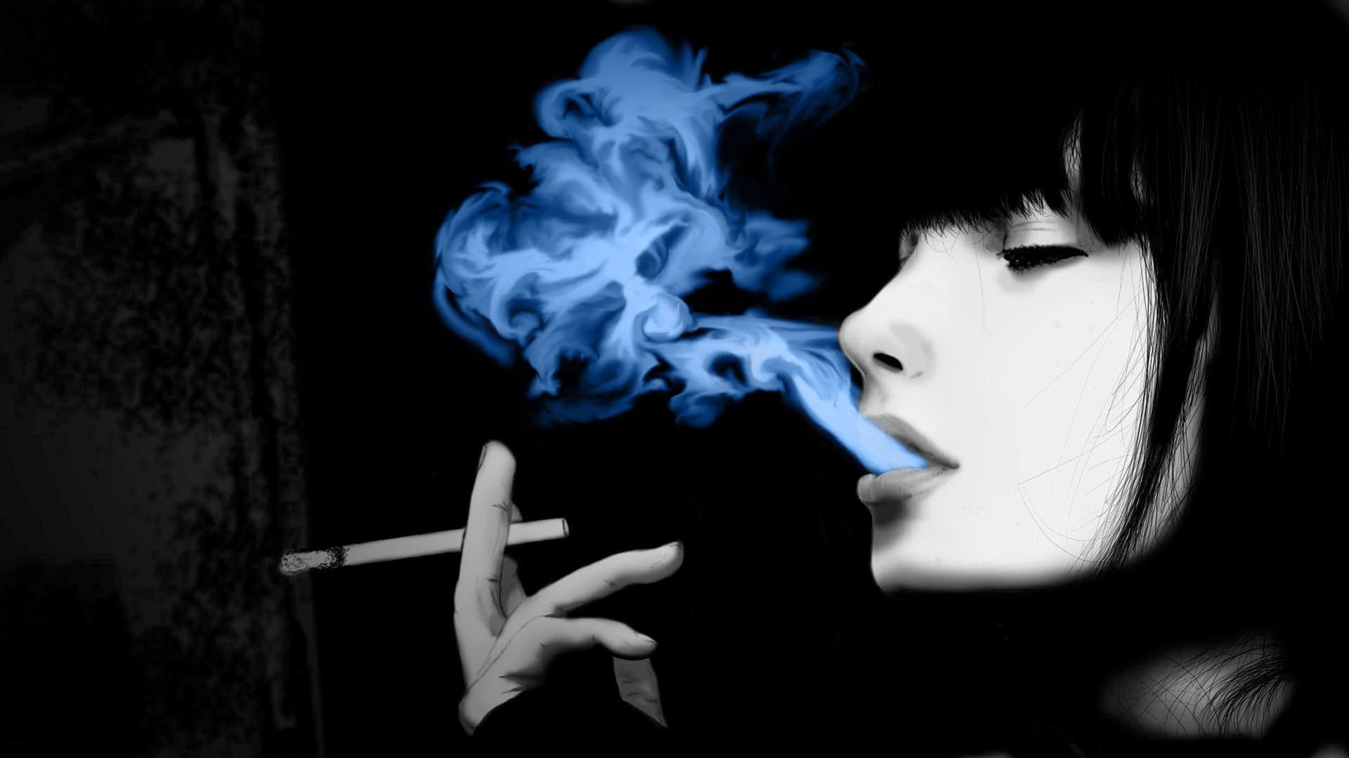 Girl Anime Wallpaper Free Download Hd Smoking Wallpapers Group 71