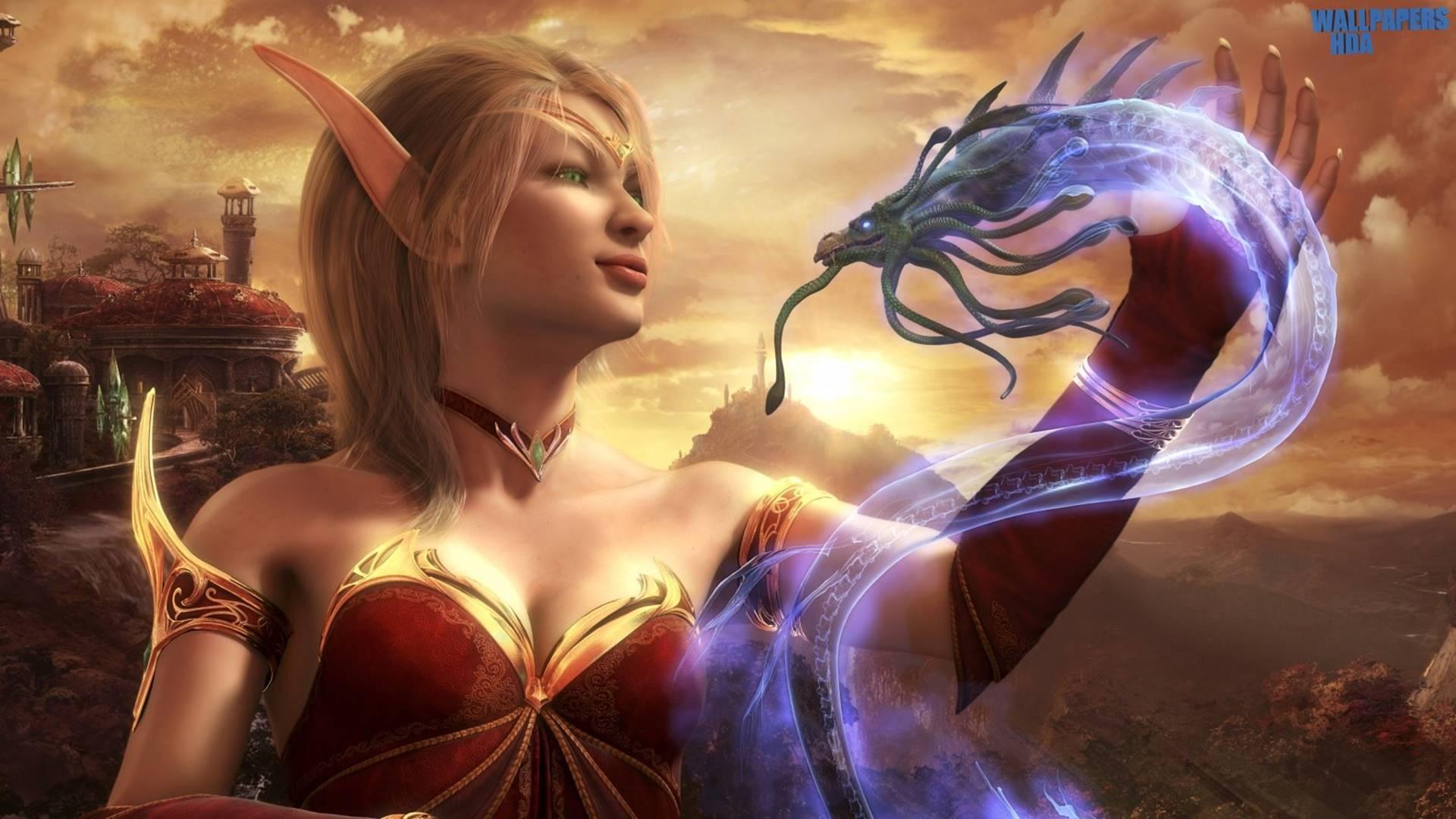 Wolfenstein Hd Wallpapers Blood Elf World Of Warcraft 1920 215 1080 Wallpaper 2017 Hd